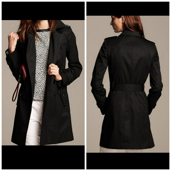 Banana Republic Jackets & Blazers - Banana Republic Double Breasted Black Trench Coat